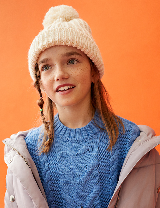 Zara kids girls orange e-commerce