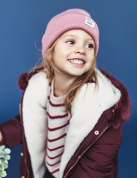 Zara Kids winter brown e-commerce