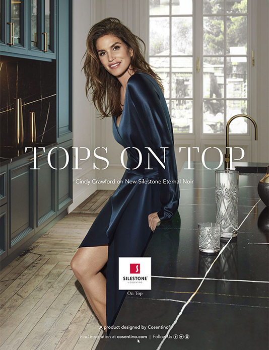 Cindy Crawford Silestone campaign
