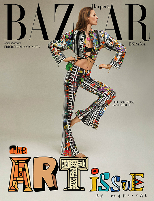 cover Elise Crombez for Harper's Bazaar Spain retouch by White Retouch | White Reouch