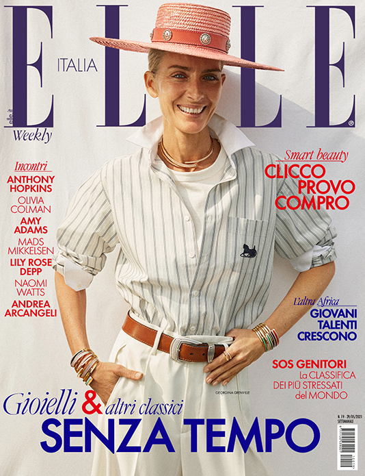 Cover Elle Italy with Georgina Grenville   White Retouch